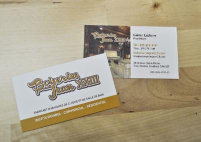 Création carte d'affaires – Boiseries Jean XXIII