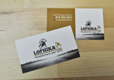 Conception carte d'affaires – Lophika