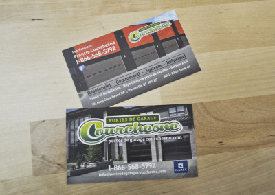 Carte d'affaires pour Portes de garage Courchesne