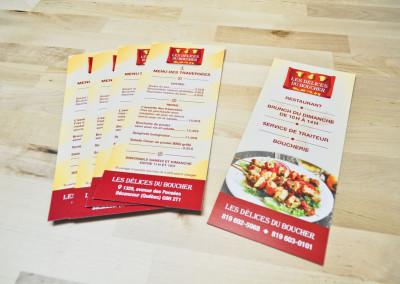 Flyer promo – Les Délices du Boucher