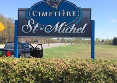 Enseigne extérieure – Cimetière St-Michel Shawinigan