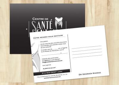 Carte postale imprimée pour CSDM