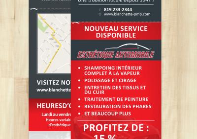 Flyer imprimé pour Garage Blanchette