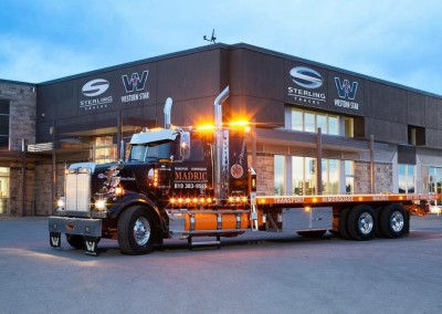 Lettrage – Remorquage Madric – Camion Mauricie Western Star