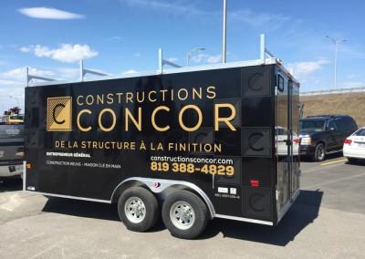 Lettrage remorque, Constructions Concor Drummondville