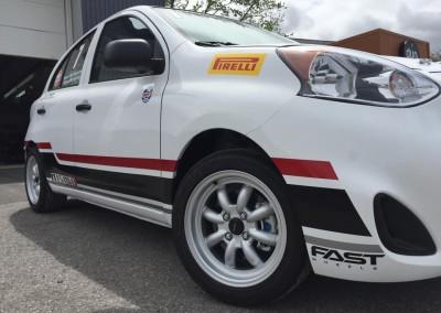 Lettrage partiel – Coupe Nissan Micra