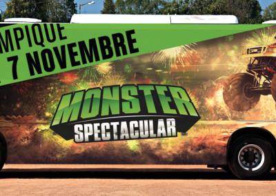 Wrap complet sur autobus – Monster Spectacular