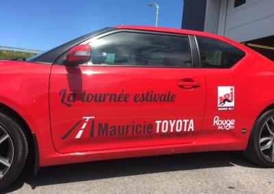 Wrap voiture – Tournée estivale Toyota Mauricie Rouge FM NRJ