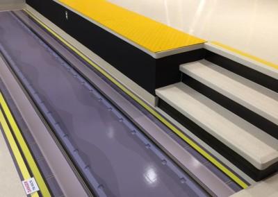 Habillage porte & plancher, station de métro virtuelle ENPQ