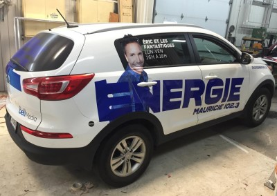 Habillage véhicules & affichage pour ÉNERGIE Mauricie