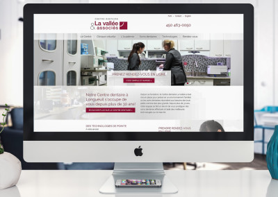 Refonte de site Web – Centre dentaire La Vallée à Longueuil