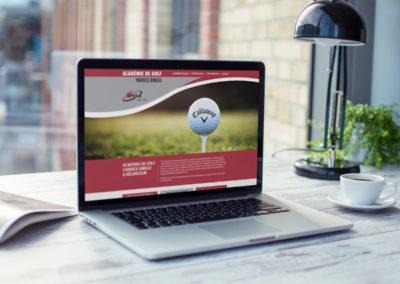 Création du site Web de l'académie de golf Yannick Bibeau