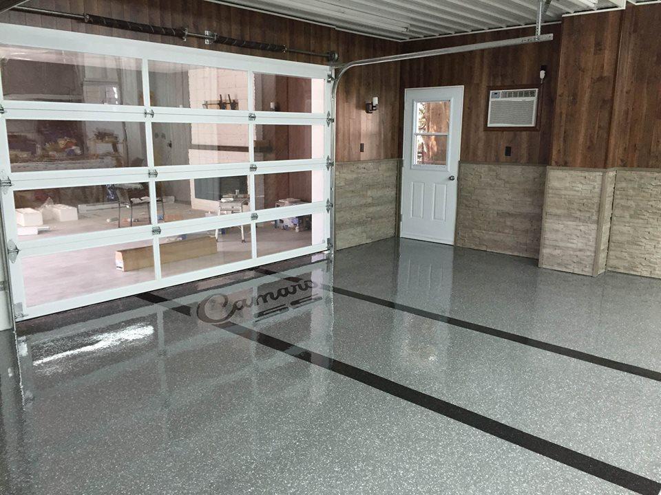 Lettrage de plancher de garage