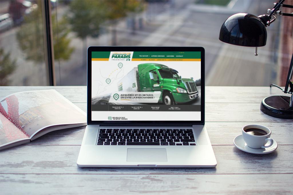 Refonte du site Web de Transport Paradis