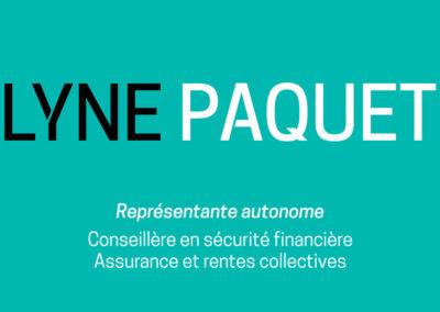 Cartes professionnelles Lyne Paquet