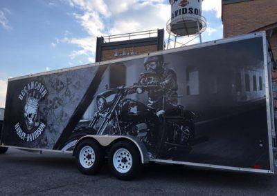 Remorque fermée Harley Davidson