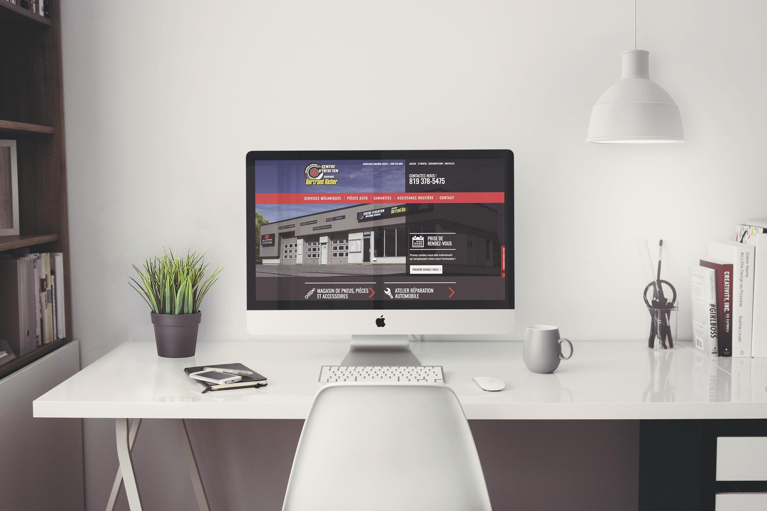 Site Web de Garage Bertrand Richer