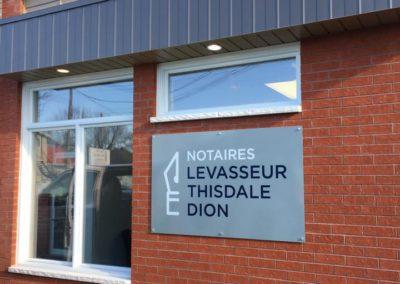 Affichage chez Notaires Levasseur Thisdale Dion