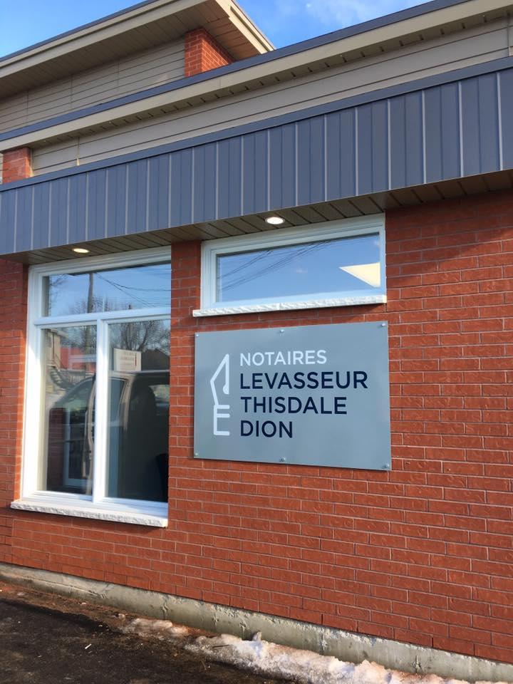 Affichage extérieur - Notaires Levasseur Thisdale Dion