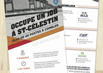 Occupe un job à Saint-Célestin
