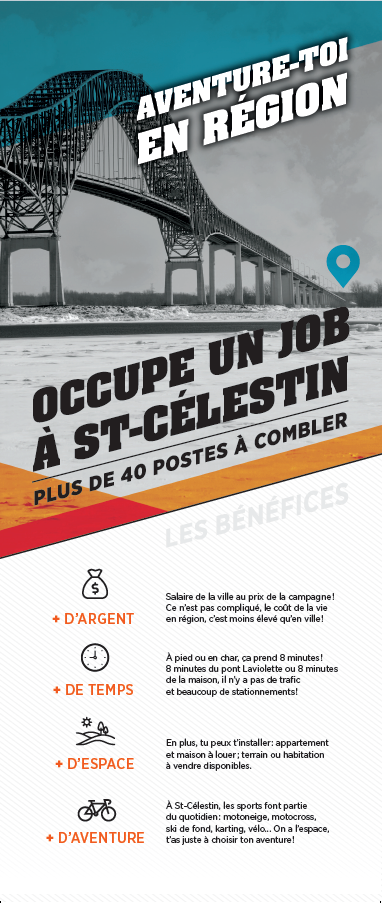 Occupe un job à Saint-Célestin - Recto