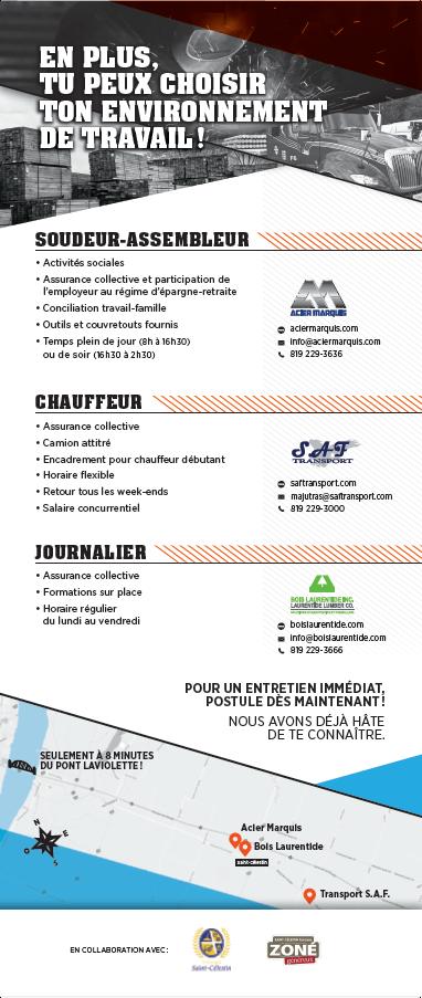 Occupe un job à Saint-Célestin - Verso