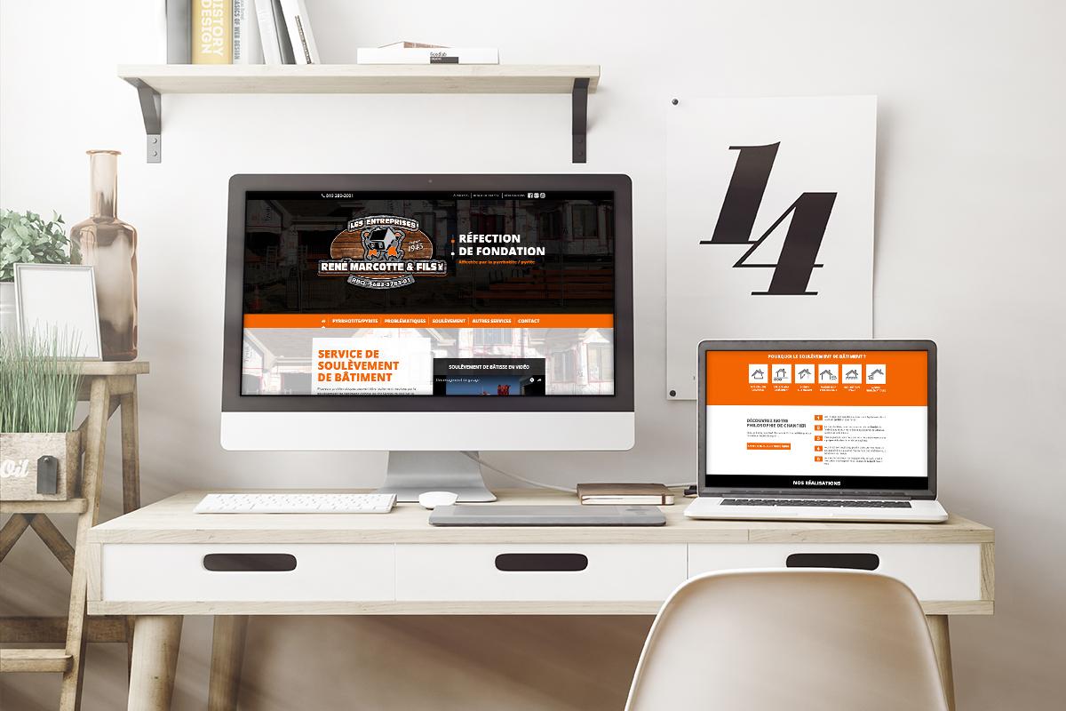 Site Web - Entreprises Marcotte