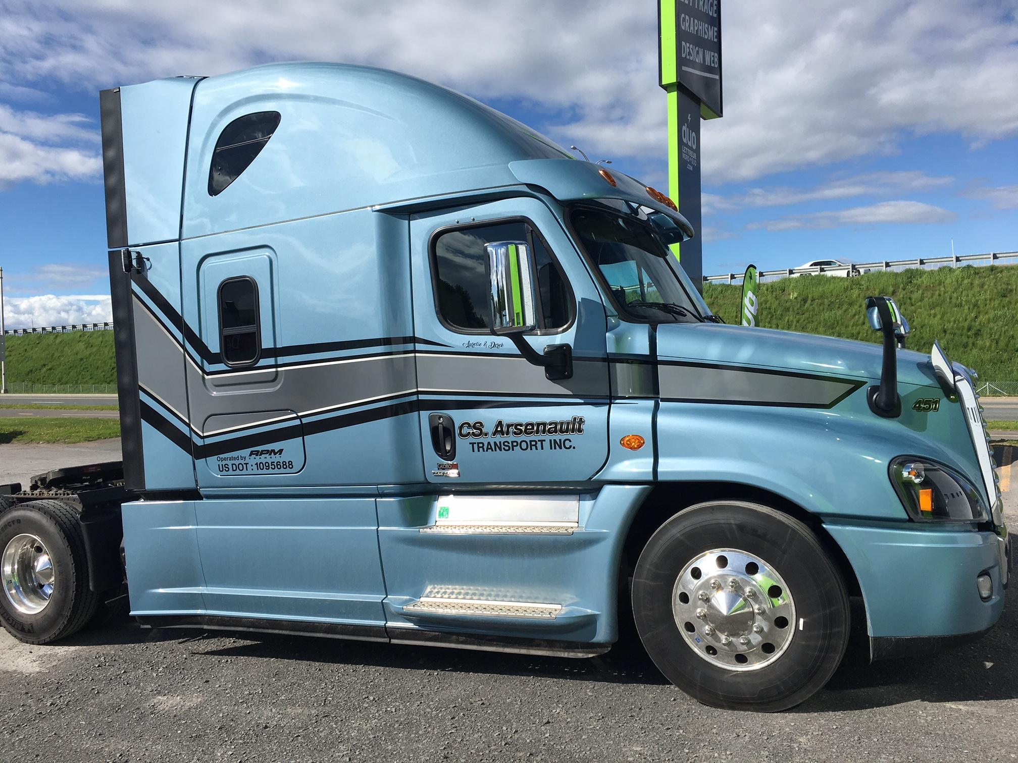 Lettrage de camion CS Arsenault