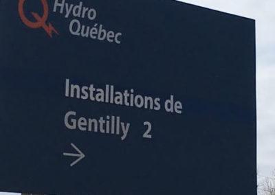 Signalisation pour Hydro Québec