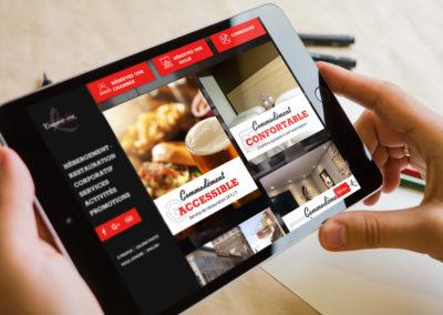 Site Web pour le Complexe Hôtelier Le 55