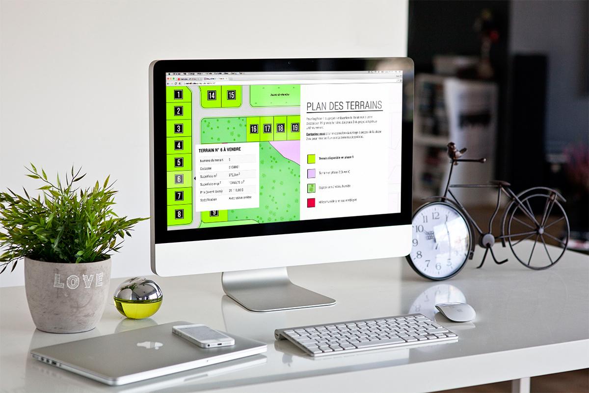 Plan interactif des terrains