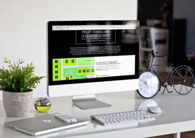 Nouveau site Web pour le Quartier du Boisé