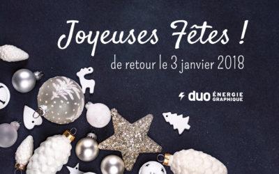 Adieu 2017, « welcome » 2018 !