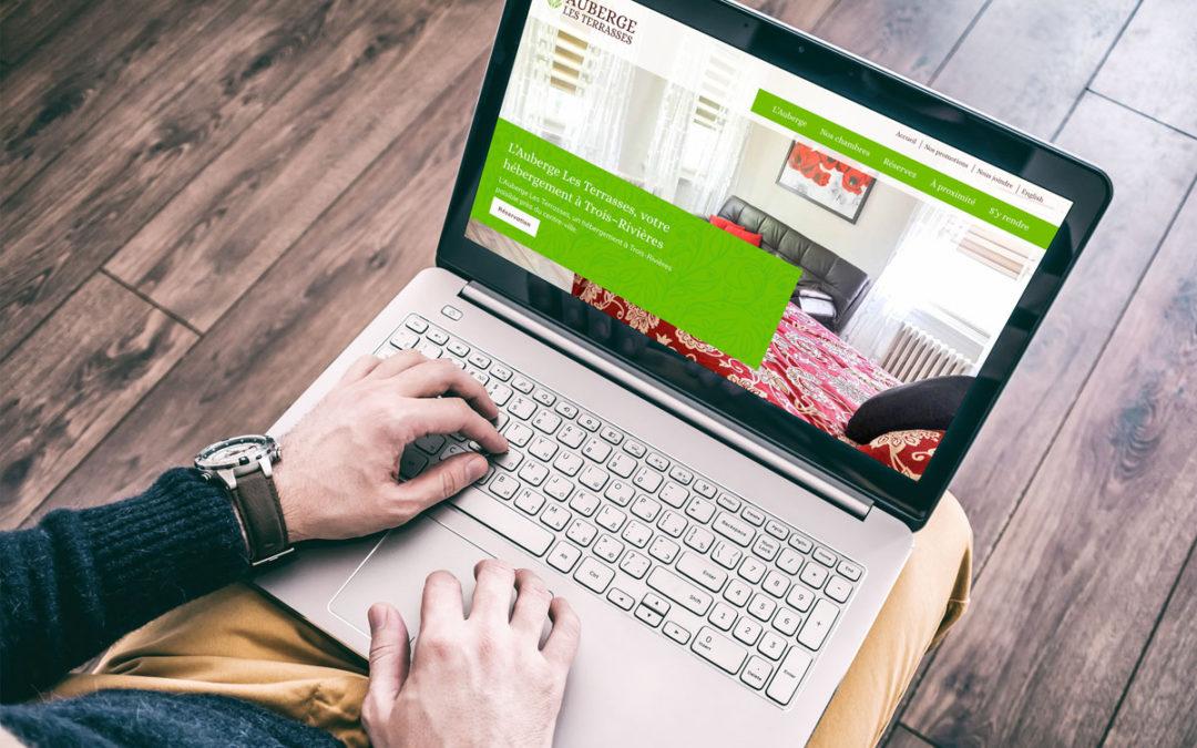 Création du site Web pour l'Auberge Les Terrasses