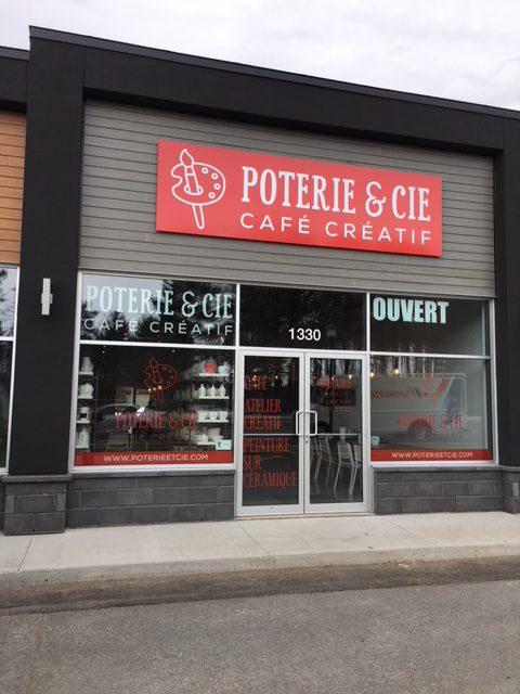 Affichage pour Poterie & Cie - Café créatif