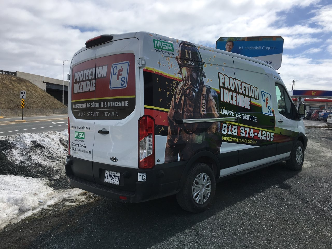 Protection Incendie CFS - Wrap partiel Ford Transit - Unité de service