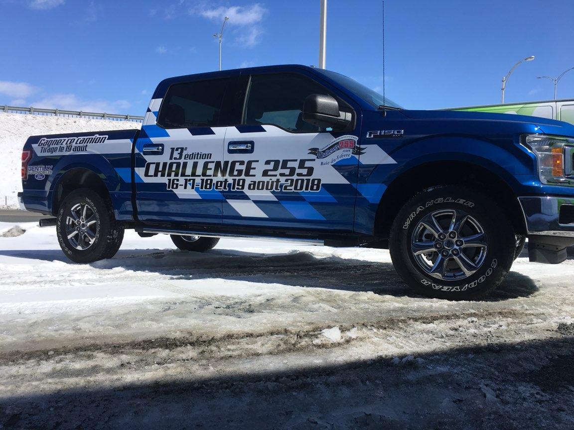 Wrap partiel des véhicules du Challenge 255