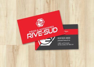 Logo et cartes d'affaires pour Pièces & Accessoires Rive-Sud