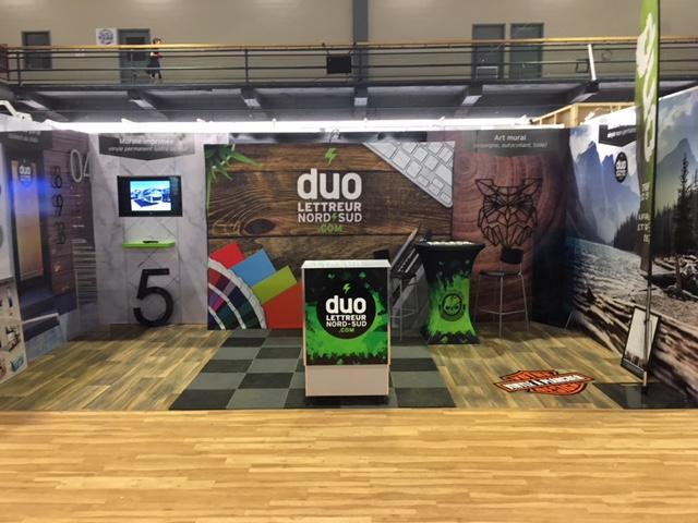 Kiosque Duo Énergie Graphique Expo Habitat