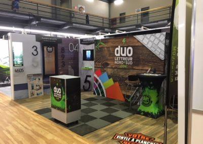 Kiosque Duo Énergie Graphique pour l'Expo Habitat