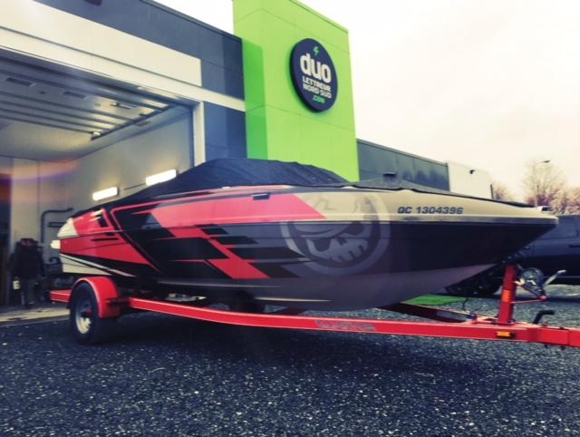 Lettrage de bateau – Full Wrap