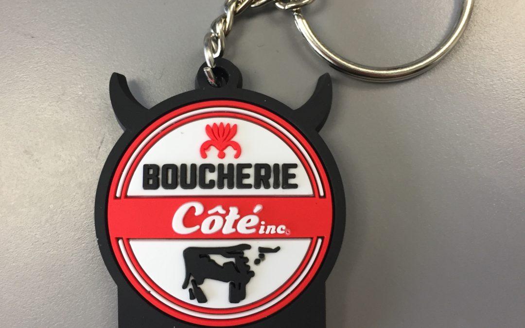 Porte-clés pour Boucherie Côté