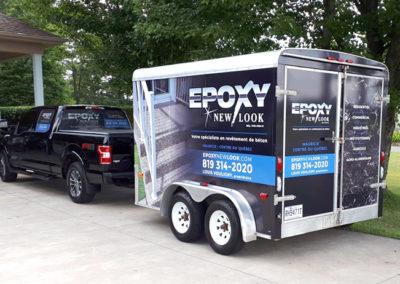 Lettrage d'un camion et de sa remorque pour Epoxy New Look