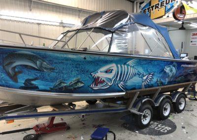 Lettrage complet d'un bateau