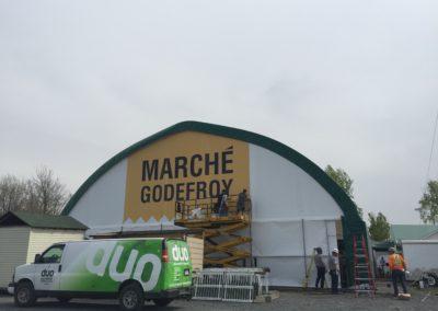 Affichage extérieur pour Marché Godefroy