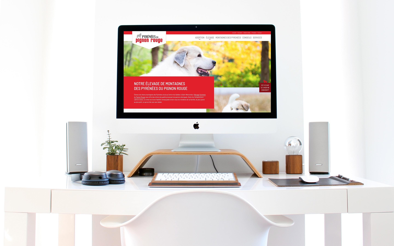 Site Web Élevage Pyrénées du Pignon Rouge