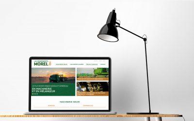 Un site transactionnel beau et efficace pour Les équipements Morel!