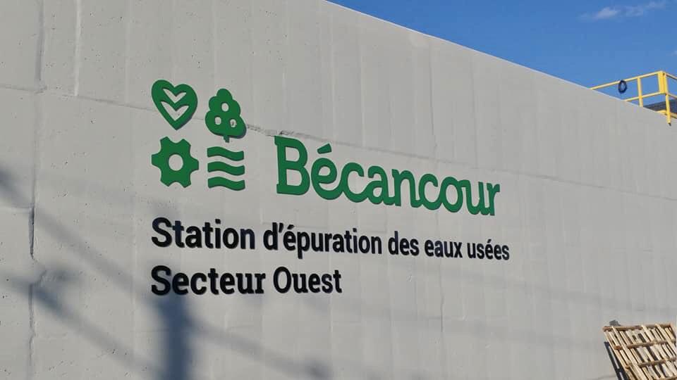 Station d'épuration des eaux usées - Secteur ouest - Ville de Bécancour