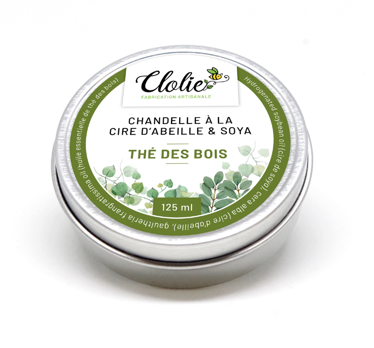 Chandelles à la cire d'abeille & soya - Thé des baies