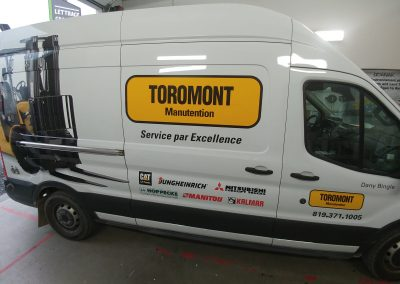 Impression et lettrage – Toromont Manutention